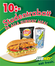 Studentrabatt hos Subway